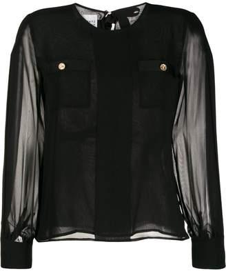 Edward Achour Paris sheer sleeves blouse