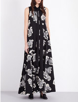Chloé Leaf embroidered gown