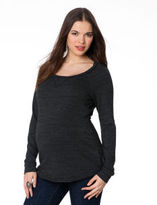 A Pea in the Pod Splendid Long Sleeve Scoop Neck Soft Top Maternity Pull Over