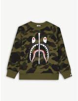 A Bathing Ape Shark zip print camouflage sweatshirt 4-8 years