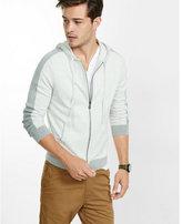 Express plaited zip front hoodie