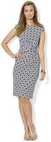 Lauren Ralph Lauren Printed Twist-Front Dress