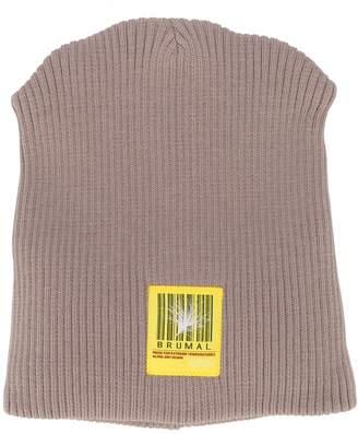 BRUMAL logo embroidered padded beanie hat