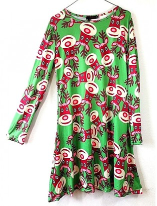 Non Signã© / Unsigned Green Synthetic Dresses