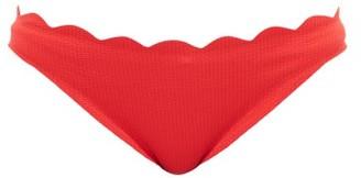 Marysia Swim Santa Barbara Scalloped-edge Bikini Briefs - Red