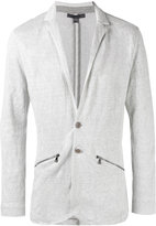 John Varvatos zip detail knitted blazer - men - Cotton/Linen/Flax/Metallic Fibre - L
