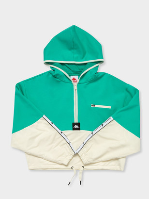 Kappa Authentic JPN Camaline Hooded Pullover in Green White