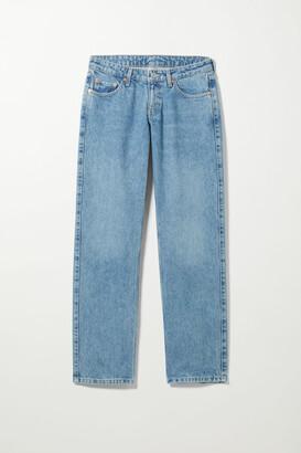 Weekday Arrow Low Straight Jeans - Black
