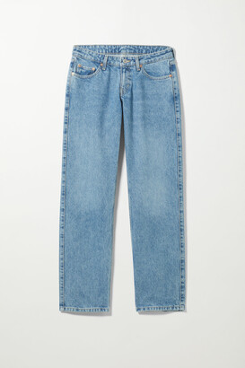 Weekday Arrow Low Straight Jeans - Blue