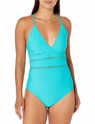 Athena Women's Plunge One Piece Swimsuit