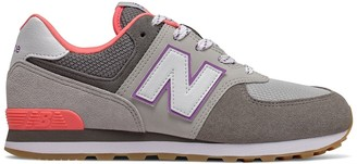 New Balance Kids 574 Suede Trainers