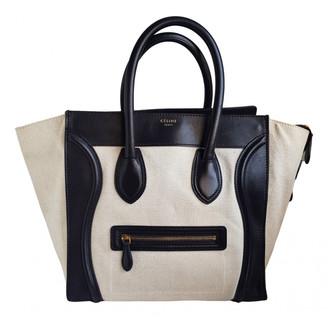 Celine Luggage Beige Cloth Handbags