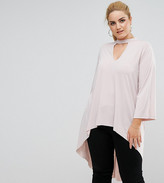 Asos Longline Tunic With Choker Neck And Dip Back