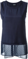 Armani Jeans sleeveless top - women - viscose/Silk - 40