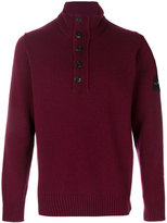 Stone Island zipped high neck jumper
