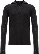 Label Under Construction knit hoodie - men - Silk/Cashmere - M