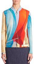 Akris Punto Main Sail Print Bomber Jacket
