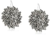 "Kenneth Cole New York Woven Item"" Black Diamond Woven Faceted Bead Drop Earrings"