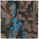 Valentino camouflage & stars scarf