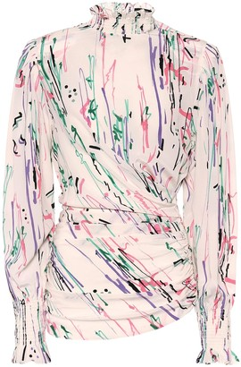 Isabel Marant Fantine printed stretch-silk blouse