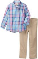 Beetle & Thread Check Shirt, Bow Tie, & Pant Set (Toddler & Little Boys)