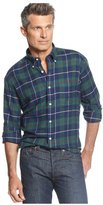 John Ashford Mens Plaid Flannel Button Up Shirt