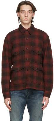 Ralph Lauren RRL Red and Brown Wool Check Shirt