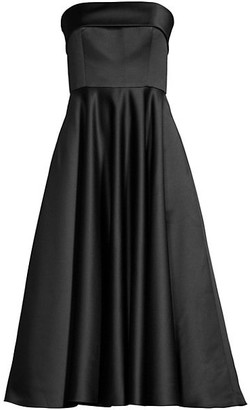 Jay Godfrey Pettigrew Strapless Midi Dress