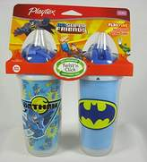 Playtex DC Super Friends Playtime Insulated Straw Cups No BPA