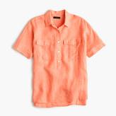 J.Crew Tall short-sleeve popover shirt in Irish linen