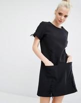 KENDALL + KYLIE Lattice Lace Short Sleeve Dress