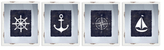 PTM Images Nautical Icons (Framed) (Set of 4)