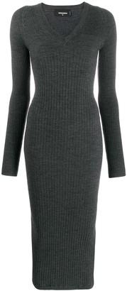 DSQUARED2 Ribbed Knit Long Dress