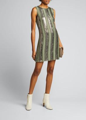Elie Tahari Esmarella Sequin Stripe Mini Dress