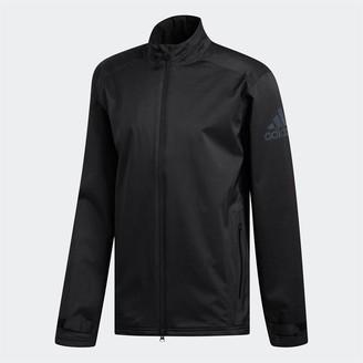 adidas Mens Golf Climaproof Heathered Rain Jacket Black/Black