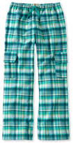 L.L. Bean Girls' Flannel Cargo Pants