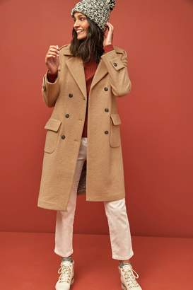 Next Womens Camel Military Style Coat - Brown