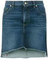 Saint Laurent asymmetric embroidered mini skirt