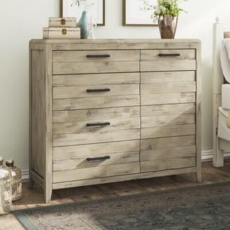 Laurel Foundry Modern Farmhouse Descartes 4 Drawer Combo Dresser