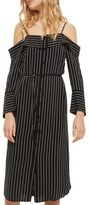 Topshop Women's Pinstripe Midi Shirtdress