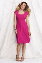 Lands' End Women's Petite Squareneck Dress