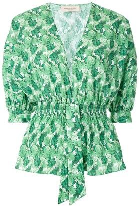 Adriana Degreas Crisantemo printed blouse