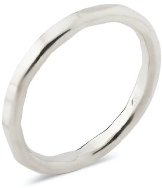 No More Accessories Hammered Plain Ring Silver