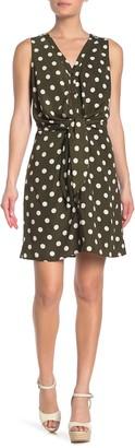 &.Layered Sleeveless Twist Front Dress