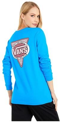 Vans Side Effect Long Sleeve Boyfriend Tee (Indigo Bunting) Women's Clothing