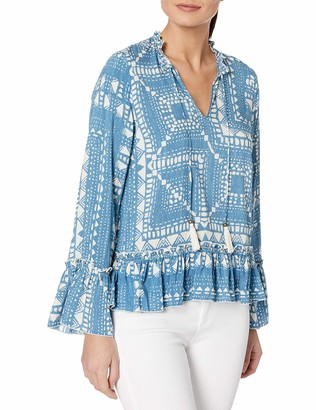 Plenty by Tracy Reese Women's Long Sleeved Romantic Blouse