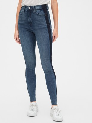 Gap Sky High Side-Stripe True Skinny Ankle Jeans with Secret Smoothing Pockets