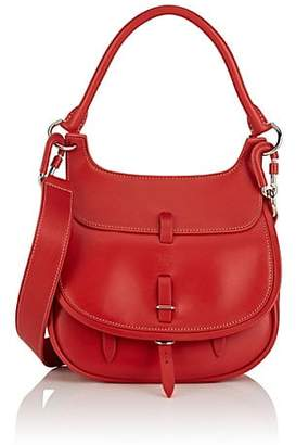 Fontana Milano Women's Chelsea Small Leather Saddle Bag - Red