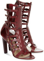 Paul Andrew Prune Leather Gladiator Sandals