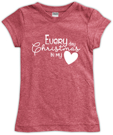 Urban Smalls Heather Red 'Every Day Christmas' Fitted Tee - Toddler & Girls